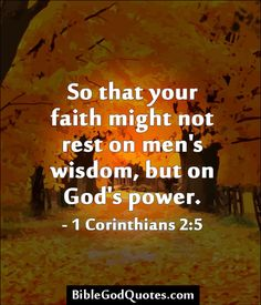 1 Corinthians 2.5